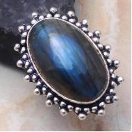 Невероятной красоты перстень с натуральным лабрадоритом 18р