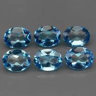 2.1Ct Натуральный Swiss Blue Топаз овал 9*7мм (цена за 1шт)