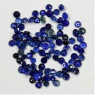 0.12Ct Насыщенный синий сапфир 2.7-2.8мм круг (цена за 1шт)