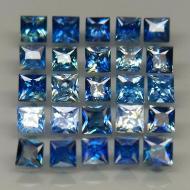 0.18Ct Негретый синий сапфир квадрат 2.7мм (цена за 1 шт)