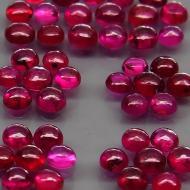 0.12Ct Натуральный рубин кабошон 2.6мм круг (цена за 1шт)