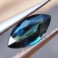 0.5Ct Натуральный полихромный сине-голубой сапфир 7*3.5мм маркиз (Видео)