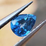 0.52Ct Натуральный сине-голубой сапфир 6.05*4.57мм груша (Видео)