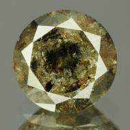 1.13Ct Натуральный серо-коричневый бриллиант 6.7мм с Сертификатом IGR (Dark Grey)