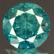 0.47Ct Натуральный голубой бриллиант 4.8мм с Сертификатом IGR (Vivid Royal Blue)