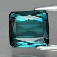 1.26CT Натуральный Greenish-Blue Турмалин (Индиголит) 6.6мм (октагон)