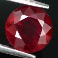 2.09Ct Натуральный Премиум класса рубин 6.8мм (круг)