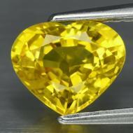 1.3Ct Натуральный Желтый Сапфир Сердце 7.32*6.0мм (Сертификат)