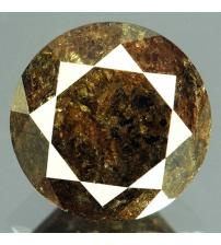 1.5Ct Натуральный коричневый бриллиант 6.8мм с Сертификатом IGR (Blackish Brown)
