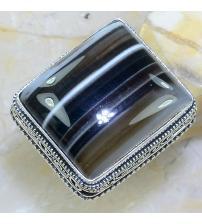 Серебряный перстень с Ботсванским агатом 18р