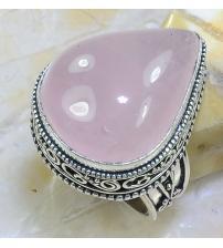 Серебряный перстень в винтажном стиле с розовым кварцем 19р
