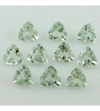 0.71Ct Натуральный зеленый аметист триллион 6мм (цена за 1шт)