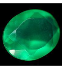 2.54Ct Натуральный зеленый агат 10*8мм