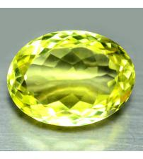 7.37Ct Натуральный лимонный кварц 14*11мм овал