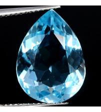 3.43Ct Натуральный голубой топаз огранка груша 8*11см