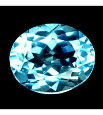 4.27Сt Натуральный Sky Blue топаз 11.8*9.0мм овал