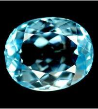 4.15Ct Натуральный Sky Blue топаз овал 10*9мм