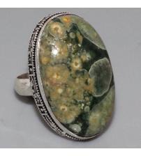 Серебряное кольцо с камнем Риолит 17.5р