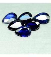 0.44Ct Натуральный синий сапфир груша 6*4мм (цена за 1 шт)