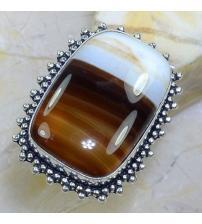 Серебряное кольцо с Ботсванским агатом 20р