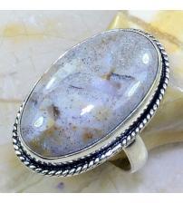 Серебряное кольцо с океанической яшмой 19.5р