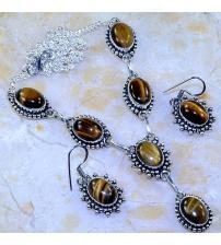 Комплекты серебряных украшений с камнями - купить индийские ... ff5995d5604