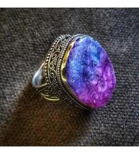 Винтажное серебряное кольцо с друзой 19.5р