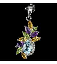 Украшения с топазом  серьги, кулон, кольцо, гарнитур, браслет купить ... 69091742e81