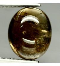 5.38Ct Драгоценный камень Турмалин (Дравит) 10*12мм кабошон