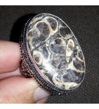 Винтажный серебряный перстень с агатом Турителла 17р