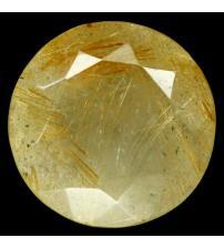 9.48Ct Натуральный Рутиловый кварц (Волосатик) 15мм круг
