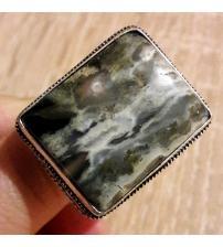 Винтажное Серебряное кольцо с океанической Яшмой 20р