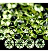 0.047Ct Натуральный Хризолит (перидот) 2.6мм круглая огранка (цена за 1шт)
