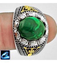 Серебряный перстень с малахитом 20Р