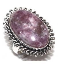 Серебряное кольцо с лепидолитом 18р