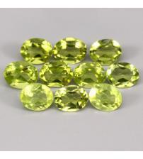 0.49Ct Натуральный хризолит (перидот) 5*4мм овал - цена за 1шт