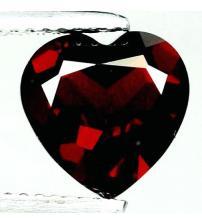 1.35Ct Натуральный гранат 7мм сердце