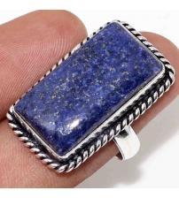 Серебряное кольцо с камнем лазурит 18р