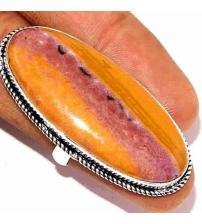 Серебряное кольцо с крупной океанической яшмой 17р