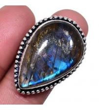 Серебряное кольцо с лабрадоритом 18р