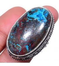 Серебряное кольцо с редким шаттуктитом в винтажном стиле 17.5р