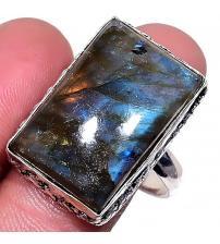 Винтажный серебряный перстень с лабрадоритом 19.5р