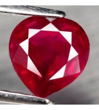 1.77Ct Натуральный рубин сердце 7мм