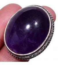Серебряное кольцо с аметистом в винтажном стиле 17.5р