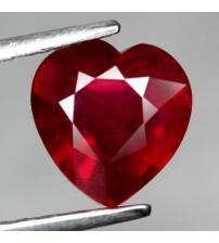 1.95Ct Натуральный рубин сердце 7.8*7.6мм