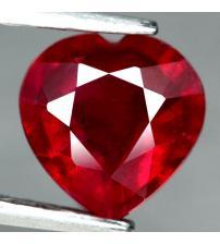 1.96Ct Натуральный рубин сердце 7.7мм