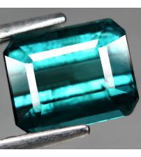 1.47CT Натуральный турмалин зелено-синий (индиголит) 7*5.7мм (октагон)