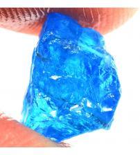 5.05Ct Натуральный голубой апатит 10*8мм без огранки