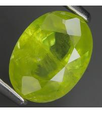 1.59Ct Натуральный Сфен (Титанит) 8.5*6.3мм (овал)