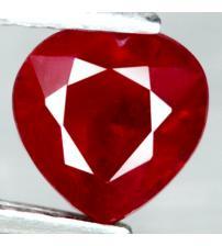 1.9Ct Натуральный рубин 6.9мм (сердце) Класса ААА+
